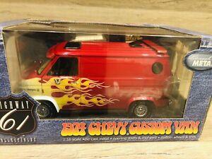 Highway 61 Ertl 1974 Chevy Custom Van Neu Rare 1/18 Neu Rot GM