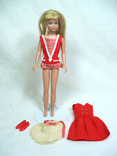 Vintage Barbie Doll - SKIPPER Straight Leg w/ Original Swimsuit & #1901 Outfit