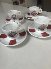 illy Collection Julien Schnabel Chuck Mon to Thurs Demitasse Cups and saucers
