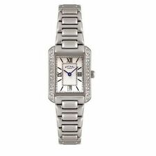 Women's Square Silver Strap Wristwatches