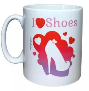 Shoe Gift Mug I Love Shoes. Christmas Gifts For Shoe Lovers. Fashion Gift Ideas
