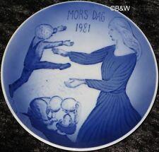 1981 Royal Copenhagen madre tag piatto Mother's day top 1. scelta