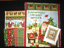 SANTAS JOURNEY Christmas Quilt Kit with 100% Cotton Fabric EASY SEW PANEL KIT