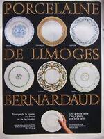 PUBLICITÉ 1968 PORCELAINE DE LIMOGES BERNARDAUD - ADVERTISING
