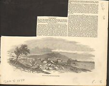 #01-0164 1/5/1850 ANTIQUE PRINT (USA) - SAN FRANCISCO FROM THE SOUTH-WEST