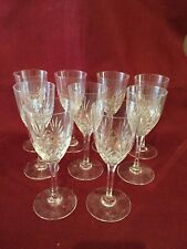 ST LOUIS 9 verres a vin en cristal modèle Chantilly