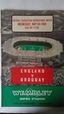 England v Uruquay Wednesday 6th May 1964 Programme & Stewards Ticket
