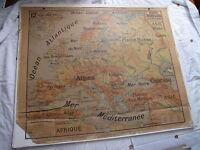 Carte scolaire Vidal Lablache n°12 Europe physique Mézières
