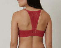 NEW Buckle Seamless BKE Laser Cut Bralette in Red Free People Sz XS/S-M/L $26.49