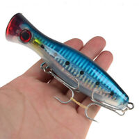 1PCS Popper Fishing Lure 8 Colors Top Water Crankbait Wobbler Pesca 40g/12cm
