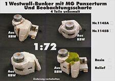 Für Diorama Nr.1145A Westwall-Bunker m.MG Panzerturm u.Beobachtungsscharte 1:72