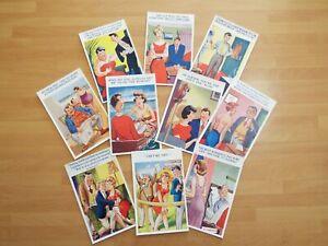 Job Lot Old Comic Original Seaside Humour Postcards Jokes Risque Holiday