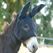 Cashel Quiet Ride Mule Donkey Fly Mask Yearling Lg Pony Long Ears Trail Riding