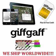 Tarjeta SIM prepago Giffgaff UK £10 saldo gratis Envío normal .Sim UK Giff Gaff.