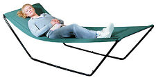 Miles Kimball Portable Hammock With Stand and Carrying Bag, blue