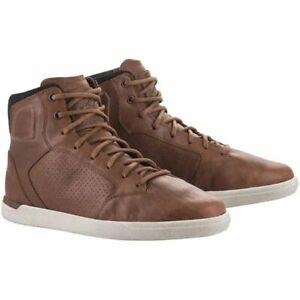 Waterproof Motorcycle Boots > Alpinestars J Cult Drystar Leather Casual - Brown