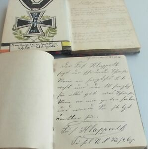 Militare - 2 Album 1916/17 Reserve-Lazarett II (Th Hannover), Grazie V.Soldati
