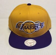MITCHELL & NESS SNAPBACK #NP57Z NBA LOS ANGELES LAKERS TRIPLE STACK LOGO