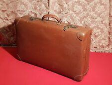 VALIGIA VINTAGE anni 40 50 Baule da Viaggio vecchia in Fibra