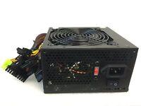 600W 600 Watt 120mm Fan ATX Black SATA PCI-E Power Supply for Intel AMD PC Unit