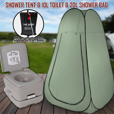 10L Outdoor Portable Toilet 20L Shower Bag Camping Tent Pop Up Change Room Gr