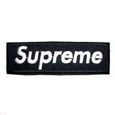 Black Supreme Punk Rock Music Skateboard Boarding Extream Sport Shirt Iron Patch