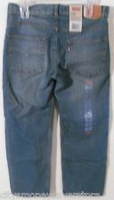 NWT Levis 550 Boys Relaxed Tapered Jeans 10 Husky 30x26 Clean Crosshatch MSRP$40