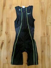 Men's Nike Triathlon Singlet Running skinsuit Cycling Black Extra Small XS