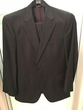Jos A. Banks Mens Charcoal Striped Signature 39 34 x 30 Wool 2 Button Suit
