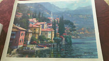 "Behrens ""Impressions of Lake Como"" Artist Embellished Signed and Numbered Ltd Ed"