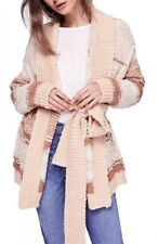NEW Free People Cozy Cabin Chunky Cardigan Sweater Size Large