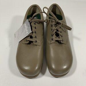 DREW Womens Taupe Soft Pebble Leather Oxford Orthotic Shoes Dri-flex 10.5C
