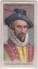 Sir Walter Raleigh English Writer Poet Soldier Explorer 90+ Y/O Trade Ad Card