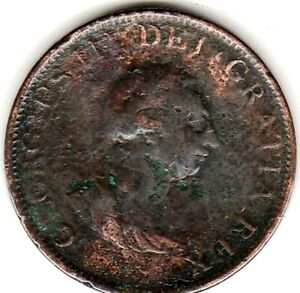 1799 George III HALFPENNY from GREAT BRITAIN