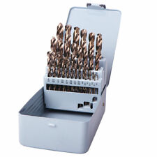 Drillforce 29Pcs Drill Bit Set Hss M35 Cobalt Multi-Bits Metal Woodworking Tools