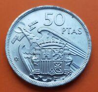 @ESTRELLA TRUCADA@ 50 PESETAS 1957 * 68 moneda de Nickel España FRANCO 1968 SC-