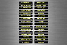 Set 32 autocollant Tool Box étiquettes Boîte à outils mécanique Garage decals bo...