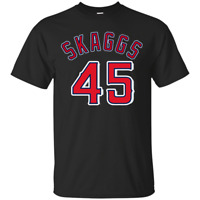 Tyler Skaggs T-Shirt Angel Los Angeles Pitcher T-Shirt Red-Black Men-Women-Youth