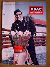 """""""L' ADAC Motorwelt – Officiel organe du... (magazine-nº 1 de Janvier 1956)"""""""