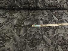 Strickstoff  Stoffe Jacquard grau ausgeprägten Blumen ab 0,50 mtr. : 2350