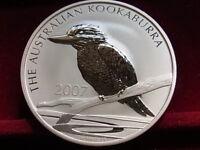 Australia. 2007  2 oz - Silver Kookaburra ($2)..  BU  - In capsule