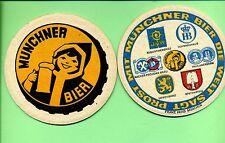 Münchner Bier --- Bierdeckel -- Bierfilz --