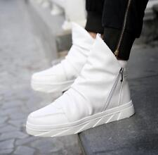 Fashion Men Punk High top Ankle Boots Zipper Sneaker Athletic Casual Board Shoes