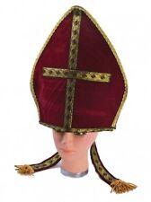 POPE'S HAT FANCY DRESS PONTIFF CAP ADULT ONE SIZE