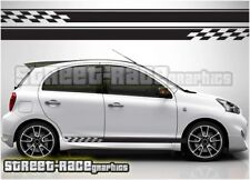 007 side racing stripes Fits Nissan Micra decals vinyl graphics stickers