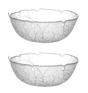 2er Set Luminarc Salatschale Aspen 27cm groß Glas Schale Salatschüssel Obst Bowl