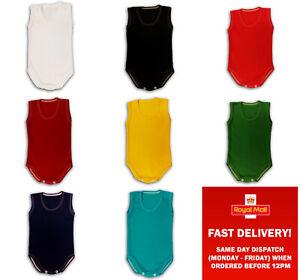 boy girl bodysuits sleeveless vest plain colour cotton 0-3-6-9-12-18-24months