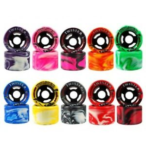 Sure-Grip Twister Quad Skate Wheels Indoor Speed Derby 96A 62mm (Pack of 8)