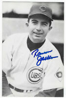 1960's CUBS Ransom Jackson signed photo postcard AUTO Chicago Autographed