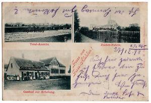 alte Ak 1898, Alsleben Saale, Zucker Fabrik, Gasthof zur Erholung, Total Ansicht